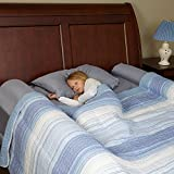 [2-Pack] Foam Bed Bumpers Toddler Rails with Waterproof Cover for Kids - Safety Side Pillow Pads