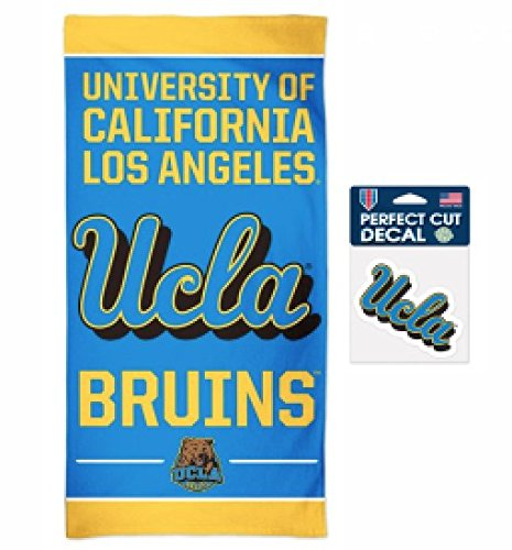 NCAA UCLA Bruins 30 x 60 inch Spectra Towel and 4 x 4 inch Perfect Cut Decal (Ucla Bruins Ncaa Plush)