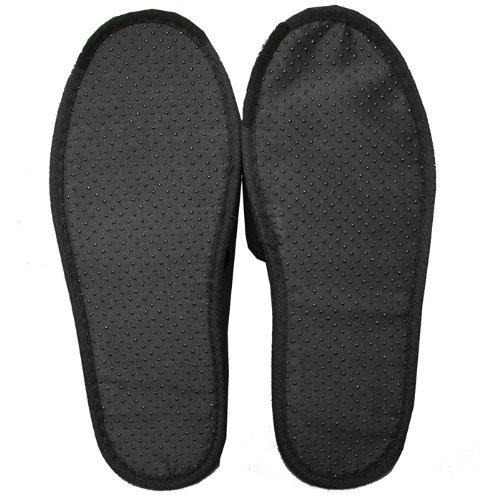 Hotel Plum Cloth Unisex Spa Black Slippers Slippers Velour Terry Mens Open Womens Toe 6YUxwzPP8q