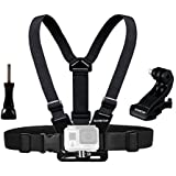 Sametop Adjustable Chest Mount Harness for GoPro Hero 6, 5, 4, Session, 3+, 3, 2, 1 Cameras