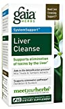 Gaia Herbs Liver Cleanse Vegan Liquid Capsules, 60 Count - Liver Detox Supplement with Organic Milk Thistle Seed, Dandelion Root, Turmeric (Curcumins) and Ginger Root