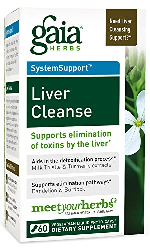 Gaia Herbs Liver Cleanse Vegan Liquid Capsules, 60 Count - Liver Detox Supplement with Organic Milk Thistle Seed, Dandelion Root, Turmeric (Curcumins) and Ginger Root by Gaia Herbs