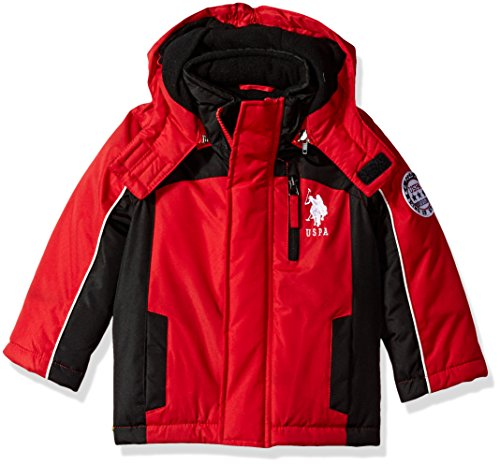 US Polo Association Toddler Boys' Outerwear Jacket (More Styles Available), UB99-Stadium-Winning Red, 2T