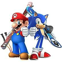 Mario vs sonic snowboarding Poster Game (13 x 19)