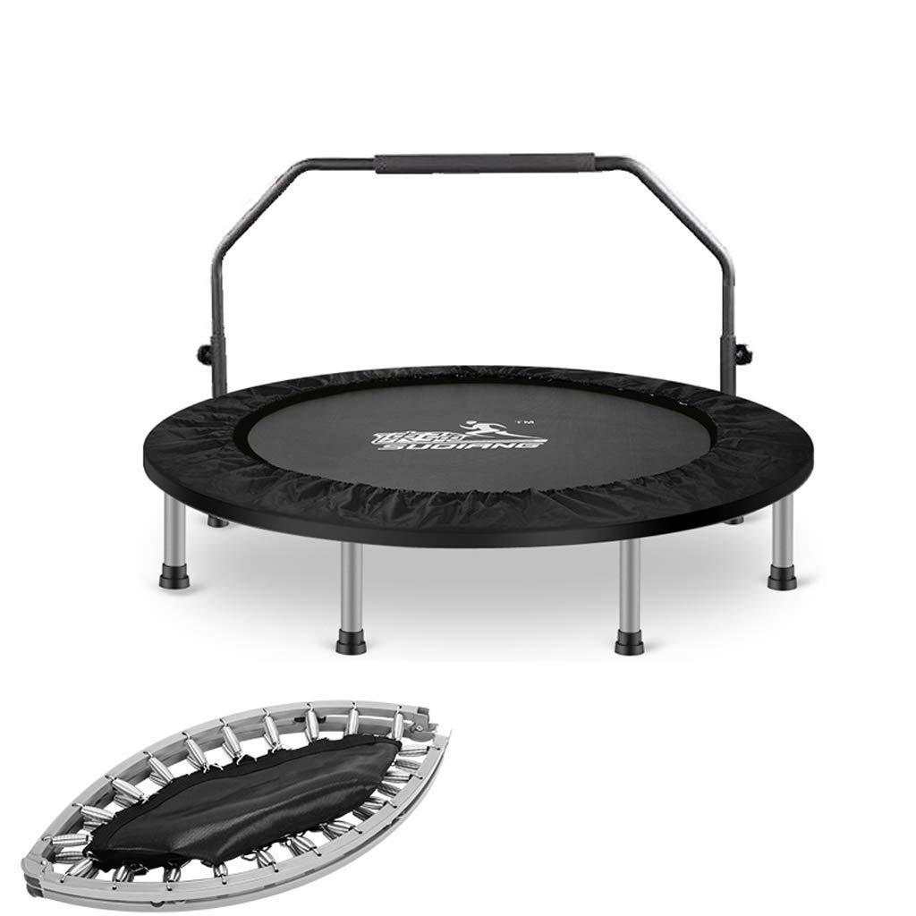Lxn 50-Zoll, Silent Mini mit Adjustable Handrail, Indoor-Rebounder für Erwachsene und Kinder, Perfect Urban Cardio Workout Home Trainer, Max Load 500 lb