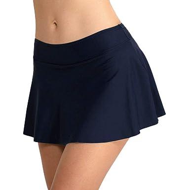 Falda Plisada Cintura Alta Mujer Nadar Troncos Shorts de Baño ...