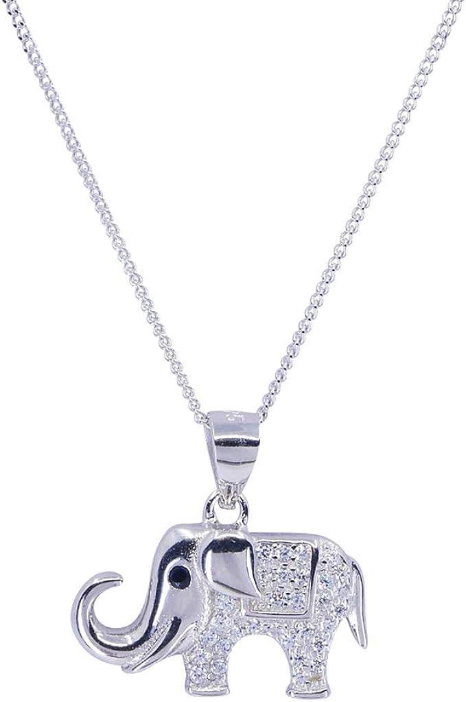 Sincerelyforyou Halskette mit Elefanten Anhänger, Sterling