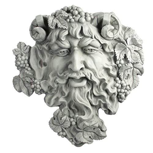 - Design Toscano Bacchus, God of Wine Greenman Wall Sculpture, Large, 19 Inch, Polyresin, Antique Stone