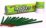 Murphy's Mosquito Sticks – Natural and DEET Free Insect Repellent Incense Stick – Bamboo infused with Citronella, Lemongrass and Rosemary 12-sticks per pack