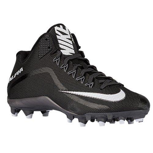 - Nike Mens Alpha Pro 2 3/4TD Football Cleats 719927 010 ( Black/Metallic Dark Grey/White , 11.5 D (M) US )