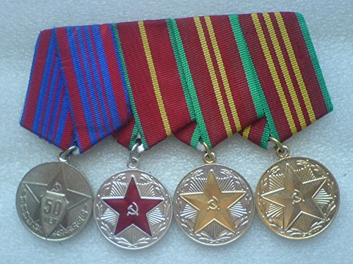 Set of original USSR Soviet Union Police CCCP Russian Medal