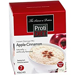Protidiet Oatmeal - Apple Cinnamon (7 - 6.2 oz pouches per box)