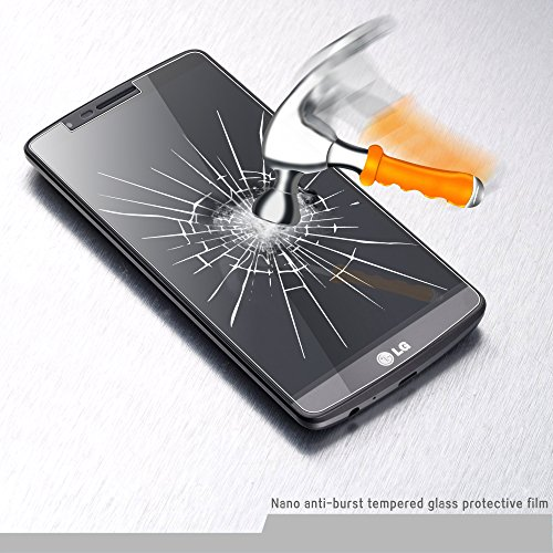 LG G3 Screen Protector, Easylife Tempered Glass Screen Protector for LG G3 9H, 2.5D Arc Angle Premium 0.33mm Ultrathin, High Definition (HD), Touchscreen Accuracy
