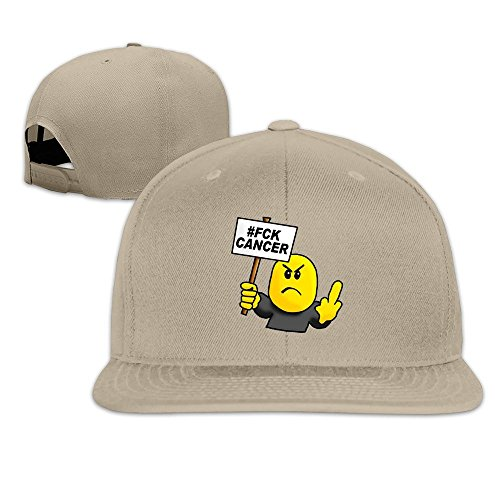 de Cap béisbol Cancer hittings Cancer dibujos Gorra Adult Flat Natural Fuck FCK animados Gorra 1vvtSxFqw