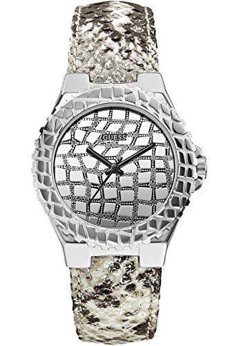 GUESS U0227L1 Women's Silver-Tone Exotic Sport Elegant Watch