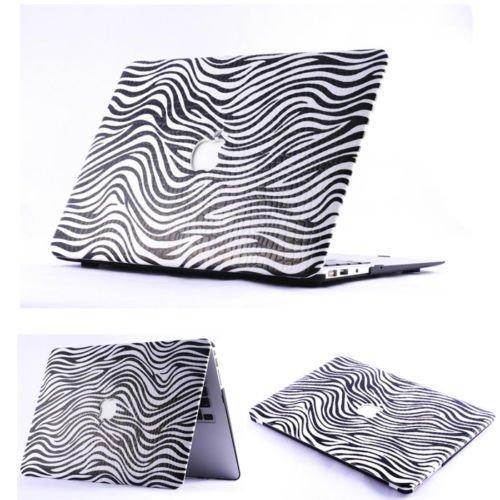 """Macbook Air 11"""" case , Fashion Pattern Hard PU Laptop Cover Case For MacBook Air 11 Inch Model A1370 / A1466 ( Zebra )"""