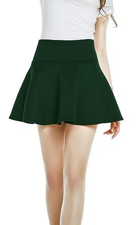 Urban CoCo Women's High Waist Mini Skirt A-line Flared Skater Mini ...