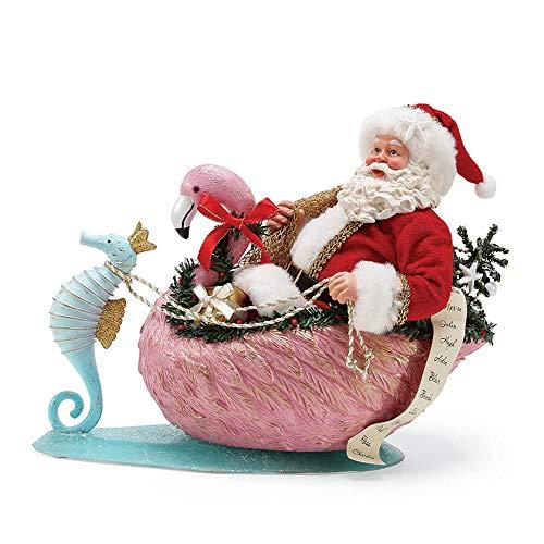 Department 56 by The Sea Santa Flamingo Crossing Figurine Multicolor - Flamingo Holiday
