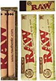 "RAW King Size ORGANIC Deal - ""KingSlim Organic Cigarette Rolling Papers, 110mm Rolling Machine & Filter Tips"" **INCLUDES** Black Velvet Pouch"