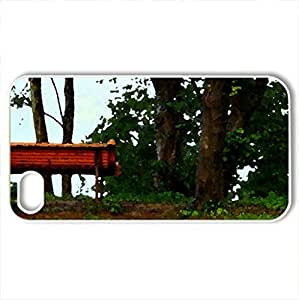 Bench - Case Cover for iPhone 4 and 4s (Watercolor style, White)