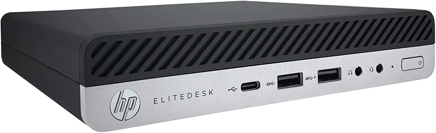 HP EliteDesk 800 G5 Mini - 9th Gen Intel Core i5-9500T 6-Core up to 3.70 GHz, 16GB DDR4 Memory, 256GB NVMe Solid State Drive, WiFi-6 with Bluetooth 5.0, Intel UHD Graphics 630, Windows 10 Pro