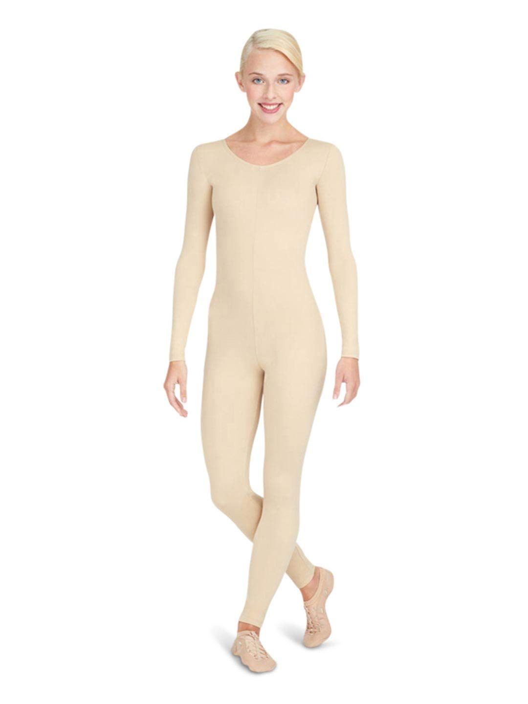Capezio Women's Team Basic Long Sleeve Unitard, Nude by Capezio