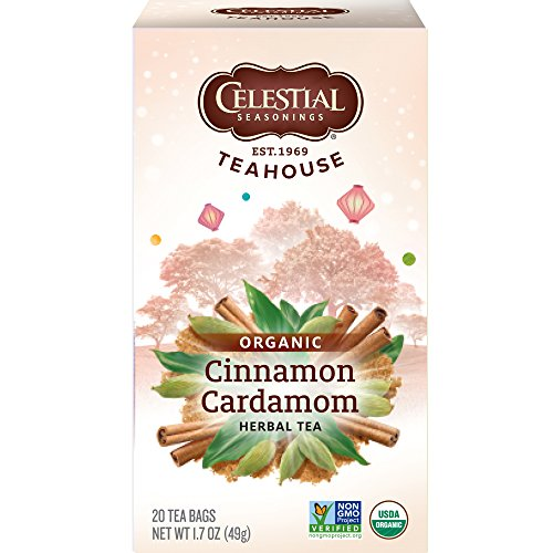 Biodynamic Tea - Celestial Seasonings Organics Herbal Tea, Cinnamon & Cardamom, 20 Count (Pack of 6)