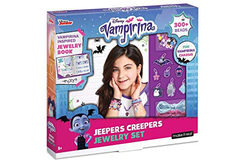 Make It Real – Disney Vampirina Jeepers Creepers Jewelry Set. DIY Jewelry Making Kit for Girls. Guides Tweens to Create Unique Charm Bracelets and Necklaces Inspired by Disney's Vampirina.