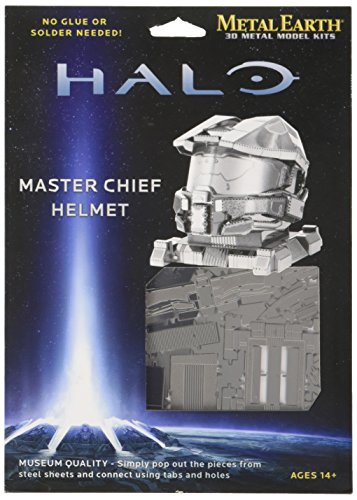 Fascinations Metal Earth Halo Master Chief Helmet 3D Metal Model Kit (Chief Metal)