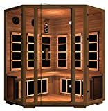 JNH Lifestyles Freedom Canadian Western Red Cedar 4 Person Corner Far-Infrared Sauna For Sale