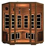 JNH Lifestyles Freedom Canadian Western Red Cedar 4 Person Corner Far-Infrared Sauna