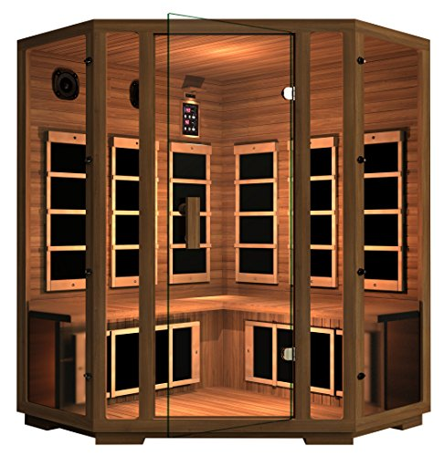 JNH Lifestyles Freedom Canadian Western Red Cedar 4 Person Corner Far-Infrared Sauna
