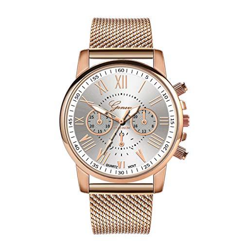 Women Dress Analog Quartz Watch,Ladies Luxury Quartz Sport Stainless Steel Dial Leather Band Wrist Watches by Bravetoshop(White)