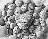 Sanskrit Words on Stones Meditation Yoga Space Peaceful Decor Wall Art Print, Black White Photograph