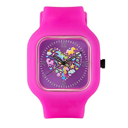 Bright Pink Fashion Sport Watch Sweet Candy Fairytale Love Unicorns