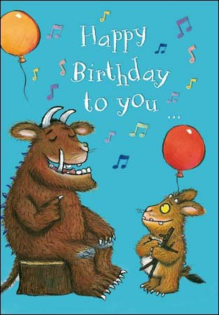 Greeting Card Wdm0068 Children S Birthday Gruffalo Happy