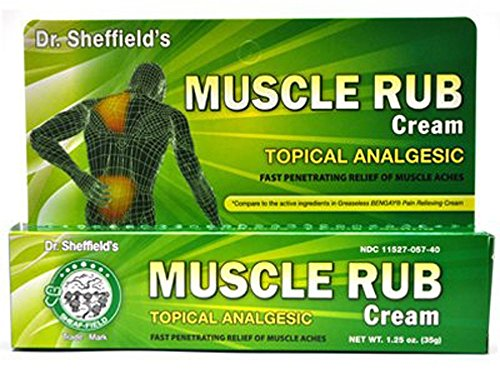 Dr. Sheffield's Muscle Rub Cream Topical Analgesic 1.25 Oz (Pack of 2)