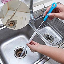 Alelife Home Kitchen Bathroom Sink Hair Cleaning Hooks Style Floor Drain Sewer Dredge (Blue)