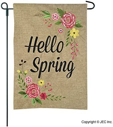 Welcome Flamingo Couple Small Garden Flag Vertical Double Sided 12.5 x 18 Inch