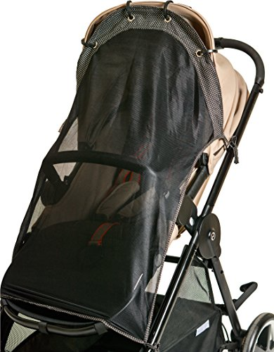 Stroller Sunshade - Sun Shade for Strollers (Long). Universal Adjustable SPF 30+ Sunshade with See Through. Your Baby Will See the World and Will Be Protected. by IntiMom