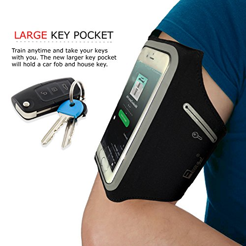 iPhone 11 Waterproof Running Armband with Extra Pockets for Keys, Cash and Credit Cards. Phone Arm Holder for Sports…