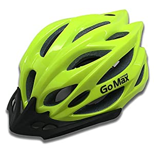 GoMax Aero Adult Safety Helmet Adjustable Road Cycling Mountain Bike Bicycle Helmet Ultralight Inner Padding Chin Protector and Visor w/Rear LED Tail Light Adjust
