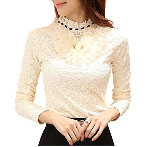 Long Sleeve Lace Thermal Top - 4