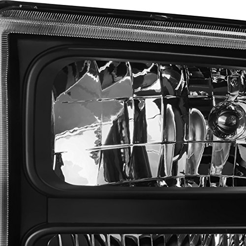 Euro Spec-D Tuning 2LH-F25005JM-ABM Black Headlight