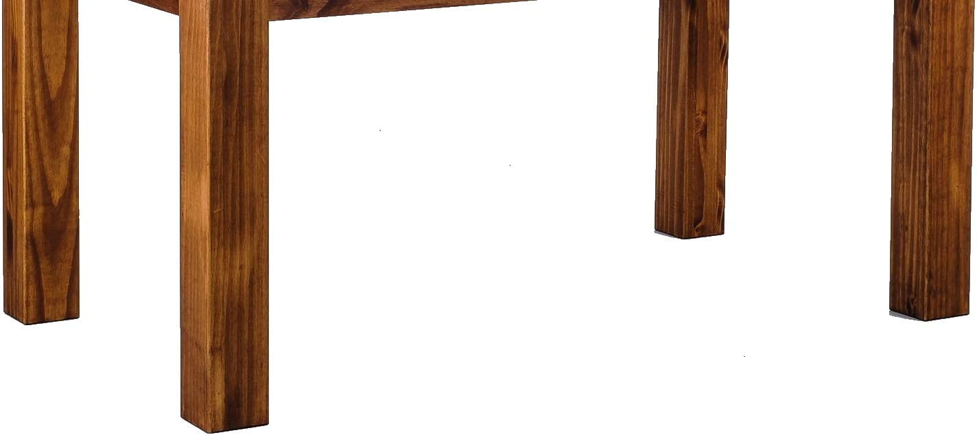 TableChamp Bar Table Feer Height 42 Inch Walnut Light Solid Wood Pine