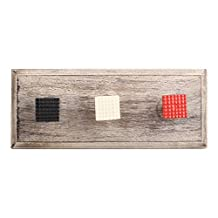 Red Square Border Metal Wooden Wall Coat Hooks Coat Key Cloth Hanging Hanger WHK-1130-MK-152