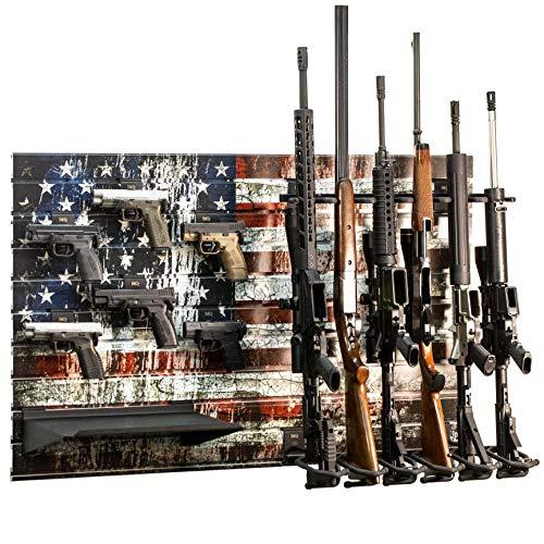 Hold Up Displays Gun Rack Slatwall Rifle and Pistol Modular Display System HD93-F