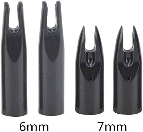 ZSHJG 50Pcs Archery Insert Nock Pins Plastic Arrow Nocks Replacement Arrow Nocks Fit Inner Diameter 6.0mm Arrow Shaft