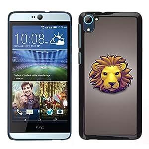 LECELL--Funda protectora / Cubierta / Piel For HTC Desire D826 -- La cara del león --