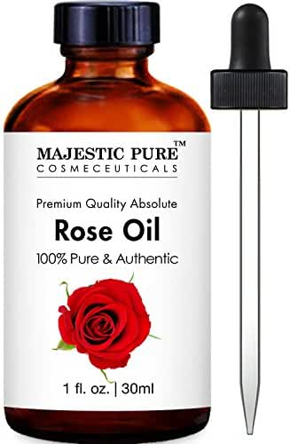 Majestic Pure Rose Oil Absolute, 100% Pure and Authentic, 1 Fluid Ounce